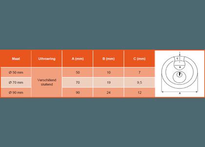 Discusslot RVS verschillend sluitend-2